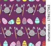pattern background easter eggs... | Shutterstock .eps vector #178617362