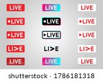 set of live streaming icons....