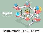3d isometric flat vector...   Shutterstock .eps vector #1786184195
