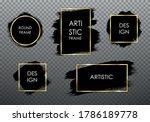 golden frame set with black... | Shutterstock .eps vector #1786189778