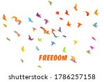 bird watercolor. a flock of... | Shutterstock .eps vector #1786257158