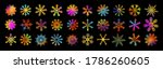 a set of colorful beautiful... | Shutterstock .eps vector #1786260605
