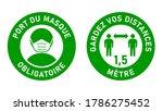 Set Of Circular Sticker Signs...
