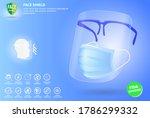 set of face shield medical...   Shutterstock .eps vector #1786299332