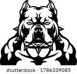 head of aggressive american... | Shutterstock .eps vector #1786339085