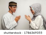 Young Asian Muslims Greet Each...
