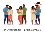 a set about family and... | Shutterstock .eps vector #1786389638