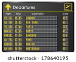 departure board   destination... | Shutterstock .eps vector #178640195