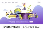 web page design for studying ...   Shutterstock .eps vector #1786421162