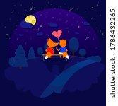 Date Under The Moon. A Fox Cub...