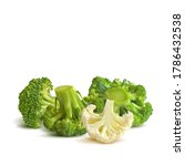 broccoli and cauliflower low... | Shutterstock .eps vector #1786432538