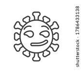 virus smirking face line icon.... | Shutterstock .eps vector #1786433138
