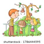 father  teacher or guide on... | Shutterstock .eps vector #1786444595