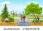 young romantic couple stands on ... | Shutterstock .eps vector #1786452878