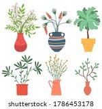 flowers in vases  floral decor...   Shutterstock .eps vector #1786453178