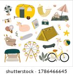 outdoor leisure activity set.... | Shutterstock .eps vector #1786466645