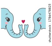 Couple Of Elephant With Long...