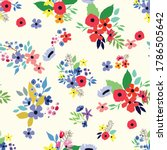 Seamless Pattern. Vector Floral ...