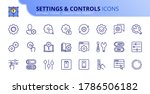 outline icons about settings... | Shutterstock .eps vector #1786506182