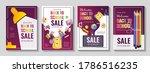 back to school promo sale flyer ... | Shutterstock .eps vector #1786516235