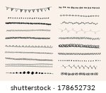 ink hand drawn vector line... | Shutterstock .eps vector #178652732