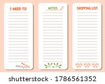 set of to do list  shopping and ... | Shutterstock . vector #1786561352