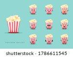 set of cute popcorn mascots | Shutterstock .eps vector #1786611545