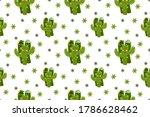 desert kawaii wallpaper  cute... | Shutterstock .eps vector #1786628462