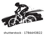 mountain biker in full speed....   Shutterstock .eps vector #1786643822