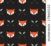 seamless vector pattern with... | Shutterstock .eps vector #178665122