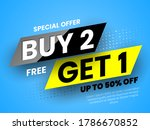 special offer buy 2  free get 1 ... | Shutterstock .eps vector #1786670852