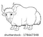 Cartoon Animal   Yak   Colorin...