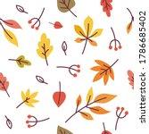 Autumn Leaves Cute Seamless...