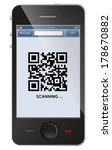 qr code on smart phone | Shutterstock .eps vector #178670882