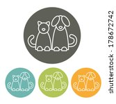 Cat And Dog. Infographics...