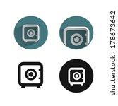 safe icon | Shutterstock .eps vector #178673642