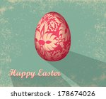 easter card with egg.  | Shutterstock .eps vector #178674026