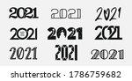 big set of 2021 happy new year... | Shutterstock .eps vector #1786759682