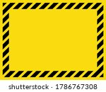 black and yellow striped blank... | Shutterstock .eps vector #1786767308