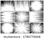 comic book radial lines... | Shutterstock .eps vector #1786770068