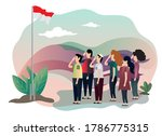 indonesia independence day... | Shutterstock .eps vector #1786775315