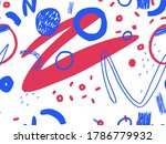 seamless abstract doodle... | Shutterstock . vector #1786779932