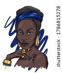 A Beautiful Black Woman In A...