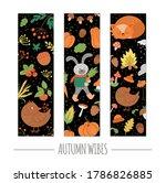 vector set of autumn bookmarks...   Shutterstock .eps vector #1786826885