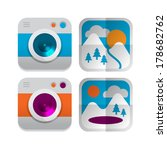 set of four vector icons of...