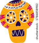mexican decorated skull  mexico ... | Shutterstock .eps vector #1786858982