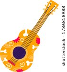 mexican typical guitar for play ... | Shutterstock .eps vector #1786858988