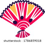 mexican typical holiday fan ... | Shutterstock .eps vector #1786859018