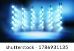 illuminated stage on the... | Shutterstock .eps vector #1786931135