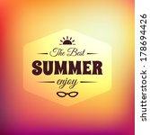 retro styled summer... | Shutterstock .eps vector #178694426